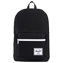 Buy Herschel Supply Co. Pop Quiz Backpack, Black Online at johnlewis.com