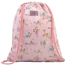 Buy Cath Kidston Garden Fairies Print Drawstring Bag, Pink Online at johnlewis.com
