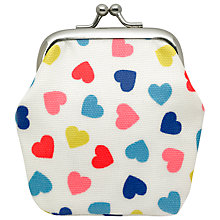 Buy Cath Kidston Heart Print Mini Clasp Purse, White Online at johnlewis.com