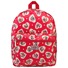 Buy Cath Kidston  Lace Hearts Padded Rucksack, Red Online at johnlewis.com