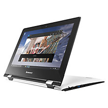 "Buy Lenovo Yoga 300 Convertible Laptop, Intel Pentium, 4GB RAM, 500GB, 11.6"", White Online at johnlewis.com"