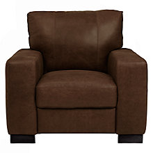 Buy John Lewis Burton Leather Armchair, Old West Chestnut Online at johnlewis.com
