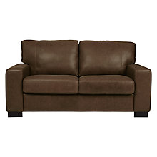 Buy John Lewis Burton Large Leather Sofa, Old West Chestnut Online at johnlewis.com