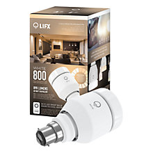 Buy LIFX White 800 LED Smart Lightbulb With Wi-Fi, B22 Online at johnlewis.com