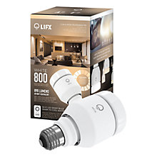 Buy LIFX White 800 LED Smart Lightbulb With Wi-Fi, E27 Online at johnlewis.com