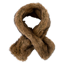 Buy Chesca Double Sided Faux Fur Collar, Brown Online at johnlewis.com