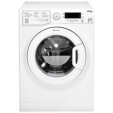 Buy Hotpoint Ultima SWD9667P Freestanding Washer Dryer, 9kg Wash/6kg Dry Load, A Energy Rating, 1600rpm Spin, Polar White Online at johnlewis.com