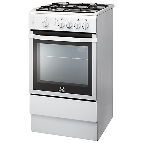 buy indesit i5ggw freestanding gas cooker white john lewis. Black Bedroom Furniture Sets. Home Design Ideas