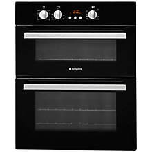 Buy Hotpoint UCL08CB Double Built-Under Electric Oven, Black Online at johnlewis.com