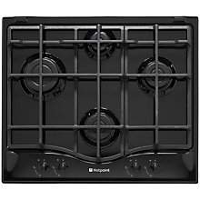 Buy Hotpoint GC641IK 60cm Gas Hob, Black Online at johnlewis.com