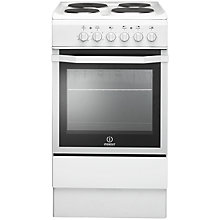 Buy Indesit I5ESHW Freestanding Electric Cooker, White Online at johnlewis.com