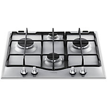 Buy Hotpoint GC641IX 60cm Gas Hob, Stainless Steel Online at johnlewis.com
