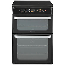 Buy Hotpoint Ultima HUI612TK Freestanding Electric Induction Cooker, Black Online at johnlewis.com