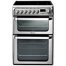 Buy Hotpoint HUE62XS.0 Electric Cooker, Stainless Steel Online at johnlewis.com