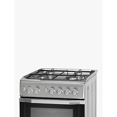 buy indesit i5gg1s freestanding gas cooker silver john. Black Bedroom Furniture Sets. Home Design Ideas