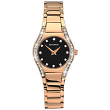 Buy Sekonda 2200.27 Women's Aurora Diamante Stainless Steel Bracelet Strap Watch, Rose Gold/Black Online at johnlewis.com