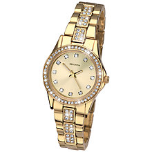 Buy Sekonda 2020.27 Women's Diamante Stainless Steel Bracelet Strap Watch, Gold Online at johnlewis.com
