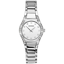 Buy Sekonda 2199.27 Women's Diamante Stainless Steel Bracelet Strap Watch, Silver/White Online at johnlewis.com