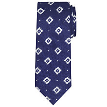 Buy JOHN LEWIS & Co. Wickett Slubby Silk Tie, Navy/White Online at johnlewis.com