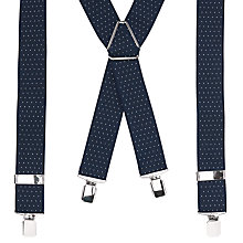 Buy John Lewis Dot Braces, One Size, Navy Online at johnlewis.com