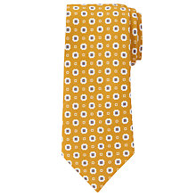 Buy JOHN LEWIS & Co. Ferry Silk Linen Geo Print Tie, Mustard Online at johnlewis.com
