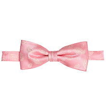 Buy John Lewis Paisley Bow Tie, Pink Online at johnlewis.com