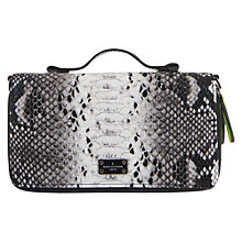 Buy Paul's Boutique Clutch Snake Effect Clutch, Black/White Online at johnlewis.com