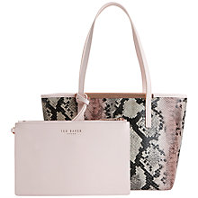 Buy Ted Baker Nesa Crosshatch Small Leather Shopper Bag, Multi Online at johnlewis.com