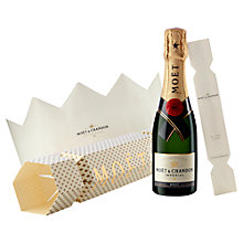 Buy Moët & Chandon Christmas Cracker Blanc Imperial Champagne, 20cl Online at johnlewis.com