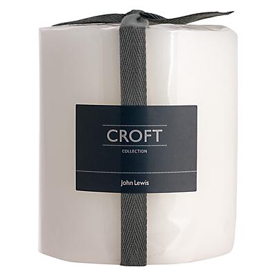 John Lewis Croft Collection Pillar Candle, H11cm, Wild Mint & White Tea