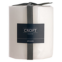 Buy John Lewis Croft Collection Pillar Candle, H11cm, Fresh Linen Online at johnlewis.com