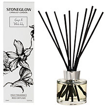 Buy Stoneglow New Ginger and White Lily Diffuser, 120ml Online at johnlewis.com