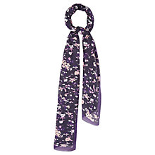 Buy Viyella Pansy Silk Modal Scarf, Purple Online at johnlewis.com