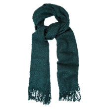 Buy Oasis Boucle Fringed Scarf, Mid Green Online at johnlewis.com