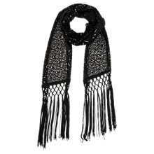 Buy Oasis Sequin Skinny Scarf, Black Online at johnlewis.com