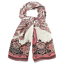 Buy Oasis Woodblock Artisan Scarf, Multi Online at johnlewis.com