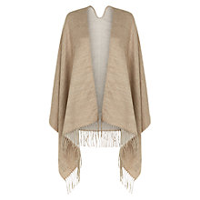 Buy Hobbs Alison Blanket Wrap, Beige Online at johnlewis.com