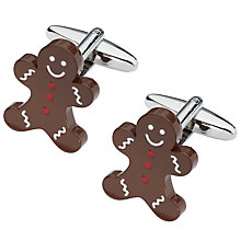Buy John Lewis Gingerbread Man Cufflinks, Brown Online at johnlewis.com