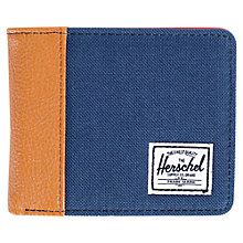 Buy Herschel Supply Co. Edward Wallet, Navy/Tan Online at johnlewis.com