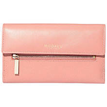 Buy Modalu Erin Contintental Leather Wallet, Rose Pink Online at johnlewis.com