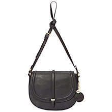 Buy Nica Millie Saddle Bag, Black Online at johnlewis.com