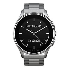 Buy Vector Luna Brushed Steel Case and Bracelet Smartwatch, Silver Online at johnlewis.com