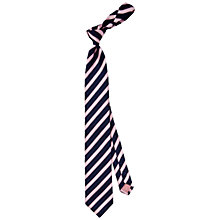 Buy Thomas Pink Ford Stripe Woven Tie, Navy/Pink Online at johnlewis.com