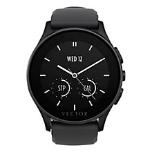 Buy Vector Luna Ion Plated Case and Silicone Strap Smartwatch, Black Online at johnlewis.com