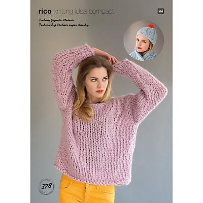 Rico Gigantic Mohair Jumper Knitting Pattern