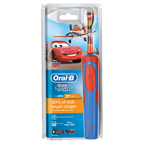 Buy Braun Oral-B Vitality Kids Cars Electric Toothbrush Online at johnlewis.com
