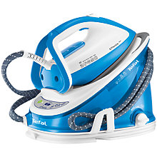 Buy Tefal Effectis GV6760 Pressurised Steam Generator Iron, Blue/White Online at johnlewis.com