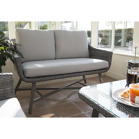 buy kettler lamode lounge 2 seater garden sofa with cushions john lewis. Black Bedroom Furniture Sets. Home Design Ideas