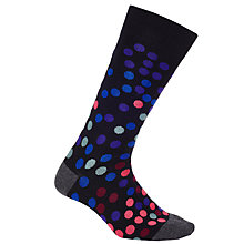 Buy Paul Smith Falling Multi Dot Cotton Socks, One Size, Grey Online at johnlewis.com