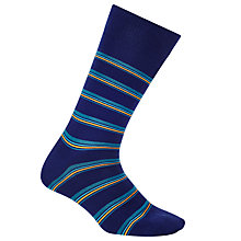 Buy Paul Smith Fine Neon Stripe Socks, One Size, Navy Online at johnlewis.com